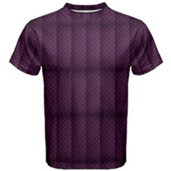 Plaid Purple Men s Cotton Tee