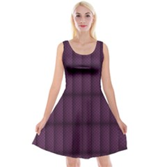 Plaid Purple Reversible Velvet Sleeveless Dress