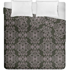 Line Geometry Pattern Geometric Duvet Cover Double Side (king Size) by Amaryn4rt