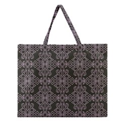 Line Geometry Pattern Geometric Zipper Large Tote Bag by Amaryn4rt