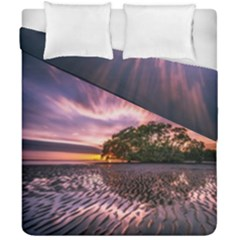Landscape Reflection Waves Ripples Duvet Cover Double Side (california King Size) by Amaryn4rt