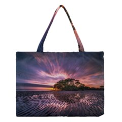 Landscape Reflection Waves Ripples Medium Tote Bag by Amaryn4rt