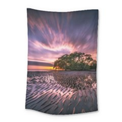 Landscape Reflection Waves Ripples Small Tapestry by Amaryn4rt