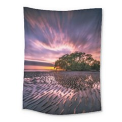 Landscape Reflection Waves Ripples Medium Tapestry by Amaryn4rt
