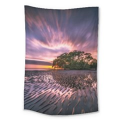 Landscape Reflection Waves Ripples Large Tapestry by Amaryn4rt