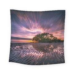 Landscape Reflection Waves Ripples Square Tapestry (small) by Amaryn4rt