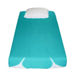 Turquoise Flower Blue Fitted Sheet (single Size) by Alisyart