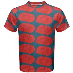 Rose Repeat Red Blue Beauty Sweet Men s Cotton Tee