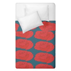 Rose Repeat Red Blue Beauty Sweet Duvet Cover Double Side (single Size)
