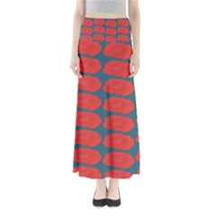 Rose Repeat Red Blue Beauty Sweet Maxi Skirts by Alisyart