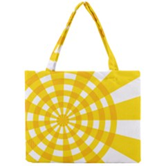 Weaving Hole Yellow Circle Mini Tote Bag by Alisyart