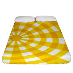 Weaving Hole Yellow Circle Fitted Sheet (king Size) by Alisyart