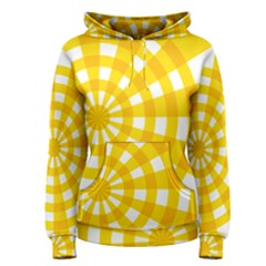 Weaving Hole Yellow Circle Women s Pullover Hoodie