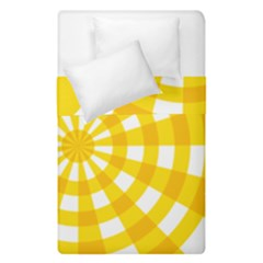 Weaving Hole Yellow Circle Duvet Cover Double Side (single Size) by Alisyart