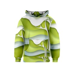 Tree Wood  White Green Kids  Pullover Hoodie by Alisyart