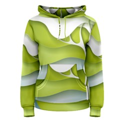 Tree Wood  White Green Women s Pullover Hoodie