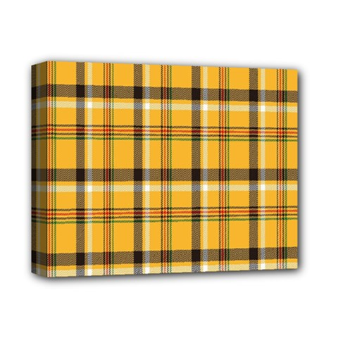 Plaid Yellow Line Deluxe Canvas 14  X 11  by Alisyart