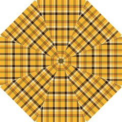 Plaid Yellow Line Hook Handle Umbrellas (small) by Alisyart