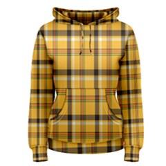 Plaid Yellow Line Women s Pullover Hoodie