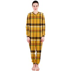 Plaid Yellow Line Onepiece Jumpsuit (ladies)  by Alisyart