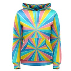 Rhythm Heaven Megamix Circle Star Rainbow Color Women s Pullover Hoodie
