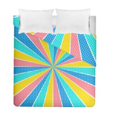 Rhythm Heaven Megamix Circle Star Rainbow Color Duvet Cover Double Side (full/ Double Size) by Alisyart