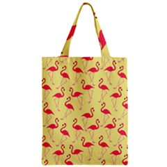 Flamingo Pattern Zipper Classic Tote Bag by Valentinaart