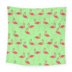 Flamingo Pattern Square Tapestry (large) by Valentinaart