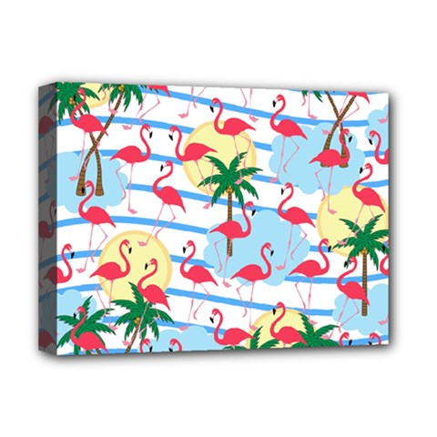 Flamingo Pattern Deluxe Canvas 16  X 12