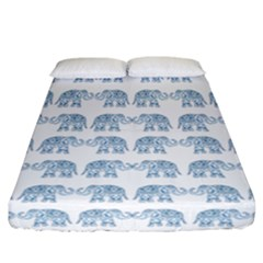 Indian Elephant  Fitted Sheet (california King Size) by Valentinaart
