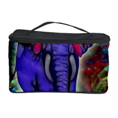 Abstract Elephant With Butterfly Ears Colorful Galaxy Cosmetic Storage Case