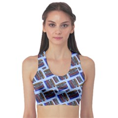 Abstract Pattern Seamless Artwork Sports Bra by Amaryn4rt