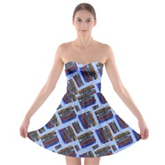 Abstract Pattern Seamless Artwork Strapless Bra Top Dress by Amaryn4rt