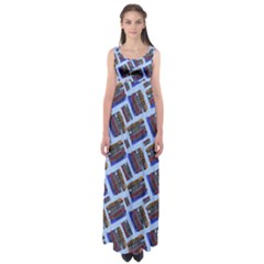 Abstract Pattern Seamless Artwork Empire Waist Maxi Dress by Amaryn4rt