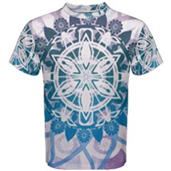 Mandalas Symmetry Meditation Round Men s Cotton Tee
