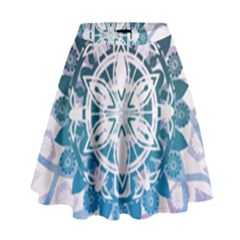 Mandalas Symmetry Meditation Round High Waist Skirt by Amaryn4rt
