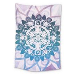 Mandalas Symmetry Meditation Round Large Tapestry