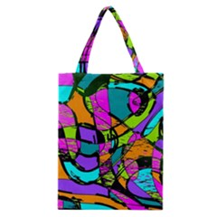 Abstract Art Squiggly Loops Multicolored Classic Tote Bag