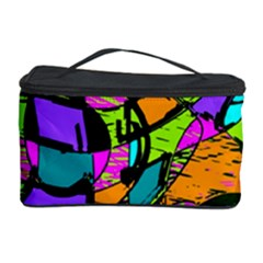 Abstract Art Squiggly Loops Multicolored Cosmetic Storage Case