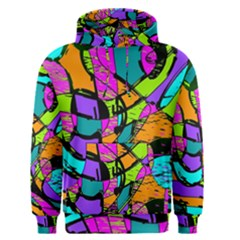 Abstract Art Squiggly Loops Multicolored Men s Pullover Hoodie by EDDArt
