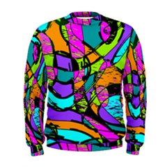 Abstract Art Squiggly Loops Multicolored Men s Sweatshirt
