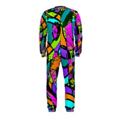 Abstract Art Squiggly Loops Multicolored Onepiece Jumpsuit (kids)
