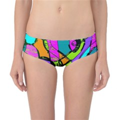 Abstract Art Squiggly Loops Multicolored Classic Bikini Bottoms
