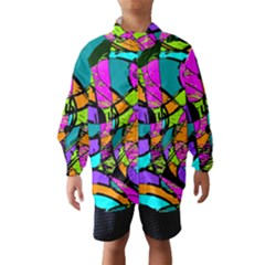Abstract Art Squiggly Loops Multicolored Wind Breaker (kids) by EDDArt