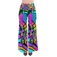 Abstract Art Squiggly Loops Multicolored Pants by EDDArt