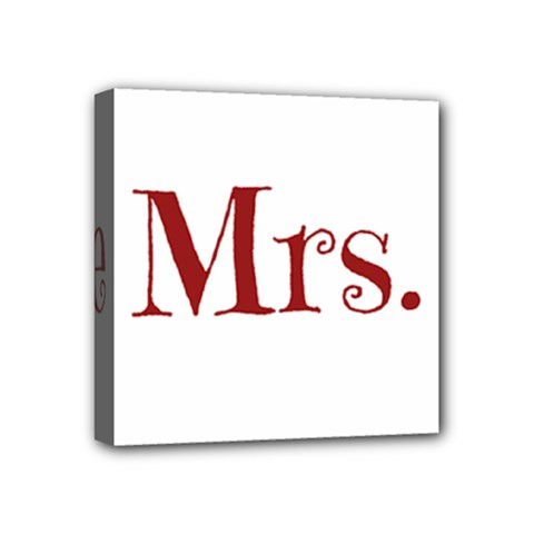 Future Mrs  Moore Mini Canvas 4  X 4  by badwolf1988store
