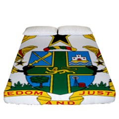 National Seal Of Ghana Fitted Sheet (california King Size) by abbeyz71