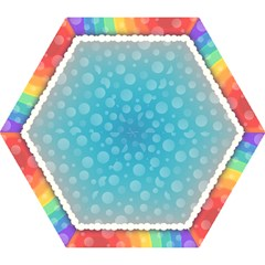 Rainbow Background Border Colorful Mini Folding Umbrellas by Amaryn4rt