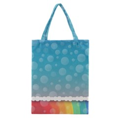 Rainbow Background Border Colorful Classic Tote Bag by Amaryn4rt