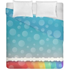 Rainbow Background Border Colorful Duvet Cover Double Side (california King Size) by Amaryn4rt
